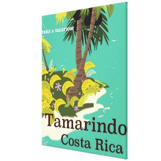 Tamarindoen Costa Rica reser affischen Canvastryck