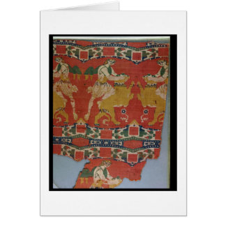 Tämja av vilddjur, Byzantinetapestryfrag Hälsningskort