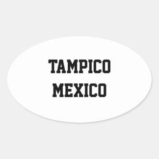 Tampico Mexico ovalklistermärkear Ovalt Klistermärke