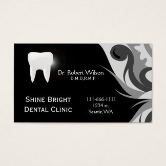 Tand- businesscards med det möte kortet visitkort