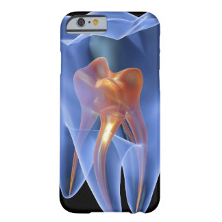 Tand genomskinligt tvärsnitt av en kindtand barely there iPhone 6 skal