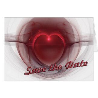 """Tänd hjärta """"spara för datera"""" OBS kort"""