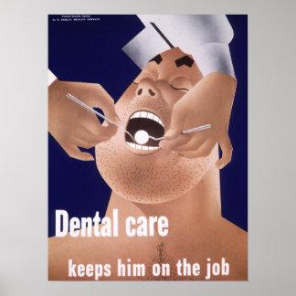 Tand- vård- affisch 1942 för vintagemarin