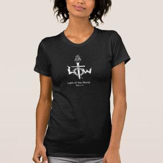 """""""Tända av världen"""" som beklär den kristna T-tröja T-shirt"""