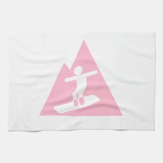 Tända - den rosa snowboardingen kökshandduk