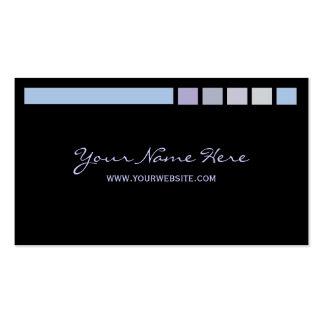 Tända deppighet på svart set av standard visitkort