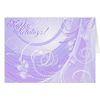 tända - det violetta vinterkortet hälsningskort