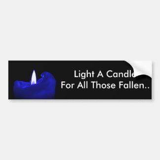Tända ett stearinljus för allt de som är stupade bildekal