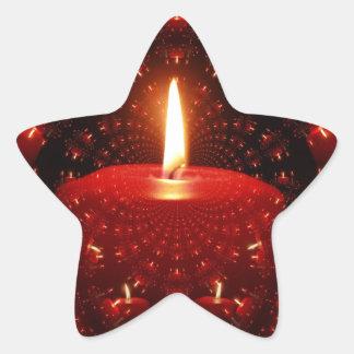 Tända ett stearinljus stjärnformat klistermärke