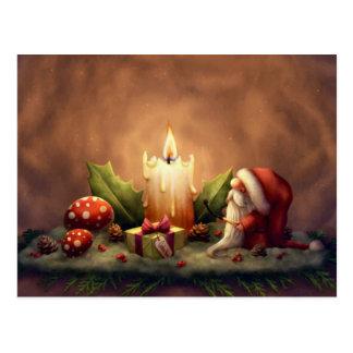 Tända ett stearinljus vykort