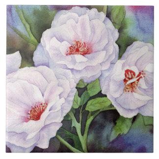 Tända - lila blommor kakelplatta
