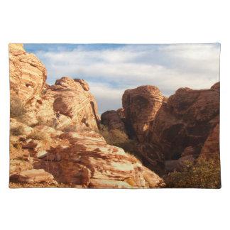 Tända vs skuggar på röda klippor bordstablett