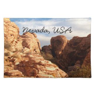 Tända vs skuggar på röda klippor; Nevada souvenir Bordstablett