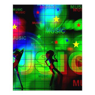 TÄNDER LJUST NEON music-163256 FÄRGMUSIK DANCI Reklamblad 11,5 X 14 Cm