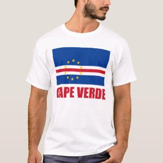 Tänder röd text för den Kap Verde flagga T Shirt