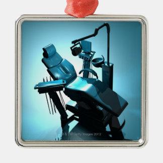 Tandläkare stol, datorillustration julgransprydnad metall