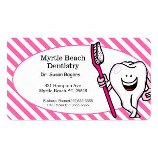 Tandläkareaffärs- och tidsbeställningskort set av standard visitkort