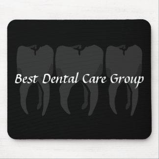 Tandläkaremusen för tre vadderar den kloka tänder musmatta