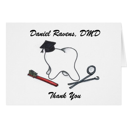 Tandläkarestudententack Hälsningskort