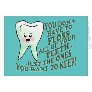 Tandläkaretandhygienisthumor Hälsningskort