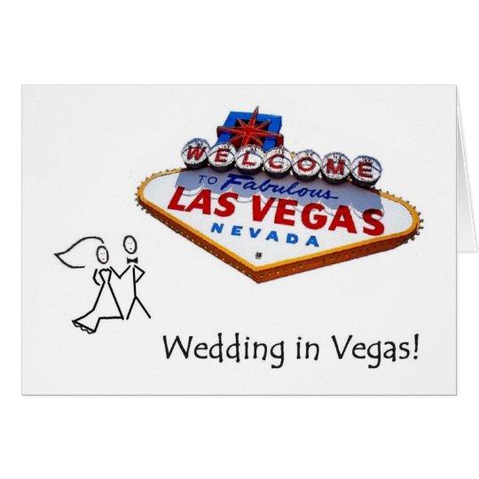 Tandpetarebrud & brudgumbröllop i det Vegas kortet Hälsningskort