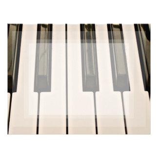 tangentbord för look för vintage för pianonycklar brevhuvud