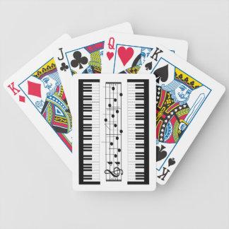 Tangentbord och musikkort spelkort