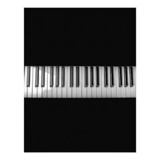 TANGENTBORDMUSIK DIGITAL REALI för PIANO Brevhuvud