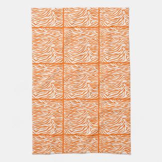 TangerineSafarisebra, belagd med tegel design Kökshandduk