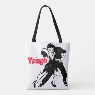 Tango kopplar ihop silhouetten tygkasse