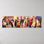 TangoBal Bullier - abstrakt konst av Sonia Delauna Affisch
