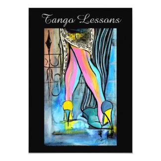 Tangokursinbjudan 12,7 X 17,8 Cm Inbjudningskort