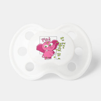 Tänk inte av en rosa elephant. napp