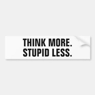 Tänk mer. Dumt mindre. Bildekal