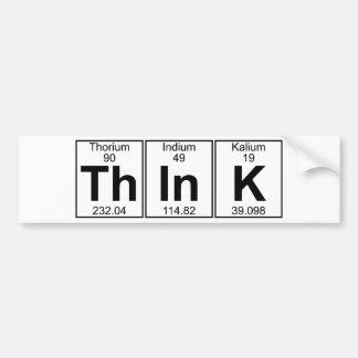 Tänk (tänka) - mycket bildekal