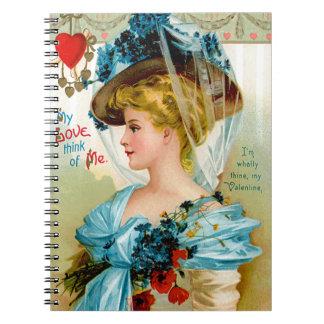 Tänka av mig anteckningsbok med spiral