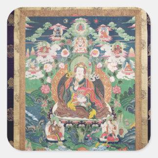 Tanka av Padmasambhava, ANNONS c.749 Fyrkantigt Klistermärke