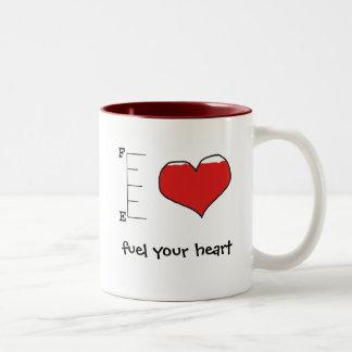 Tanka din hjärtamugg Två-Tonad mugg