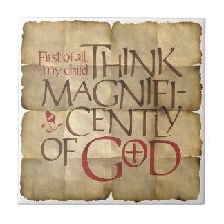 Tänka Magnificently av guden Kakelplatta
