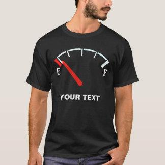 Tanka mätinstrumentet gasar tankfullt/tömmer tee shirt