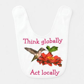 Tänkan agerar globalt lokalt Hummingbirdhaklappen Hakklapp