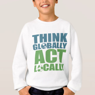 Tänkan agerar globalt lokalt t-shirts