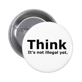 Tänkan är det inte olagligt, yet politiskt utrusta standard knapp rund 5.7 cm
