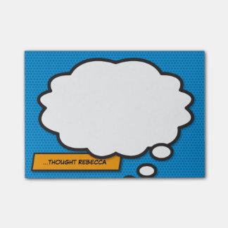 Tänkan för humorbokpopkonst bubblar post-it lappar