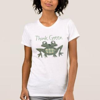 Tänkan görar grön grodaskjortan t-shirt