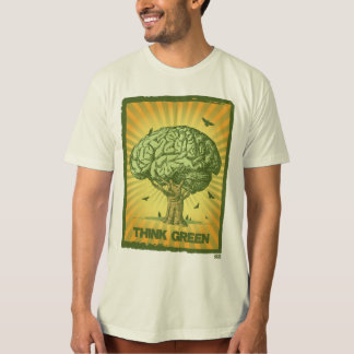 Tänkan görar grön hjärnträd tshirts