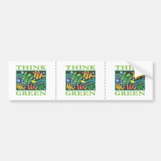 Tänkan görar grön miljö- bildekal