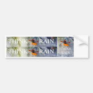 Tänkan regnar bildekal