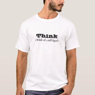 Tänkan - stund är det stilla lagligt tee shirt