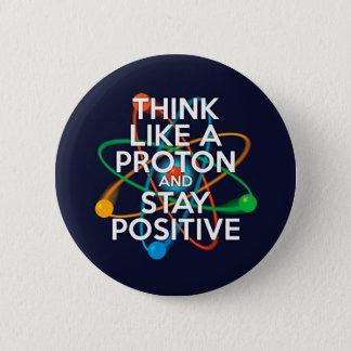 Tänkanågot liknande en proton och en stagrealitet standard knapp rund 5.7 cm